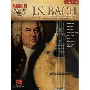 BACH JEAN SEBASTIEN - MANDOLIN PLAY ALONG VOL.04 J.S. BACH + CD