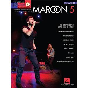 MAROON 5 - PRO VOCAL FOR MALE SINGERS VOL.28 + CD