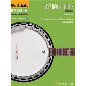 COMPILATION - EASY BANJO SOLOS 2ND EDITION FOR 5 STRING BANJO + DOWNLOADING CODE
