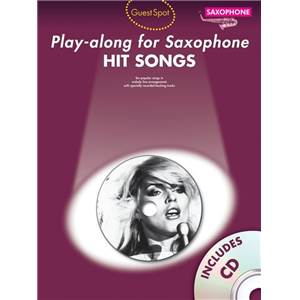 COMPILATION - GUEST SPOT HIT SONGS PLAY ALONG FOR ALTO SAXOPHONE + CD