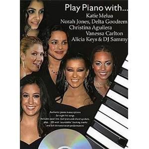 COMPILATION - PLAY PIANO WITH JONES, CARLTON, MELUA, KEYS, AGUILERA... + CD