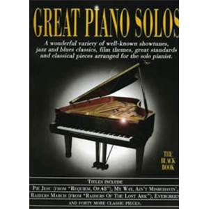 COMPILATION - GREAT PIANO SOLOS BLACK VOL.REVISED