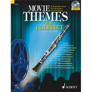 COMPILATION - MOVIE THEMES FOR CLARINET + CD CLARINETTE - EPUISE