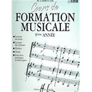 LABROUSSE MARGUERITE - COURS DE FORMATION MUSICALE VOL.5 - FORMATION MUSICALE