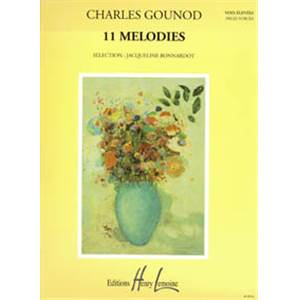 GOUNOD CHARLES - MELODIES (11) - VOIX ELEVEE ET PIANO
