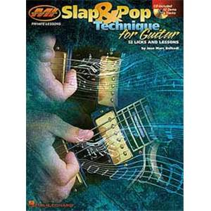 BELKADI J. M. - SLAP ET POP TECHNIQUES GUITAR TAB. + CD