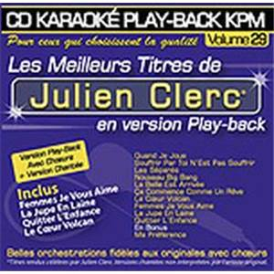 CLERC JULIEN - CD KARAOKE VOL.29 AVEC CHOEUR + VERSIONS CHANTEES
