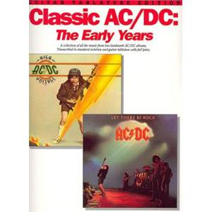 AC/DC - CLASSIC THE EARLY YEARS GUITARE TABLATURE
