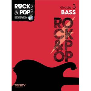 COMPILATION - TRINITY COLLEGE LONDON : ROCK & POP GRADE 3 FOR BASS + CD