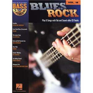 COMPILATION - BASS PLAY ALONG VOL.018 BLUES ROCK + CD