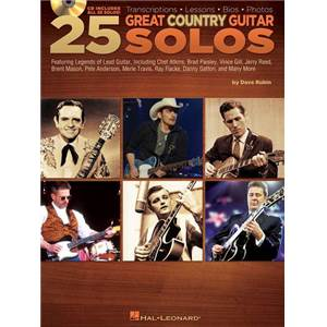 COMPILATION - 25 GREAT COUNTRY GUITAR SOLOS + CD