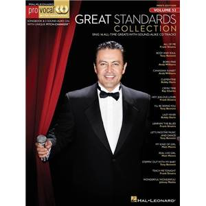 COMPILATION - PRO VOCAL FOR MALE SINGERS VOL.52 GREAT STANDARDS COLLECTION + CD
