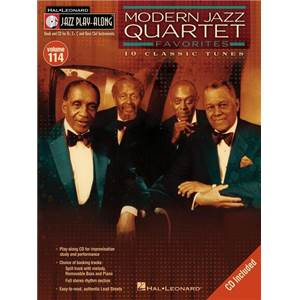 MODERN JAZZ QUARTET - JAZZ PLAY ALONG VOL.114 MODERN JAZZ QUARTET FAVORITES + CD