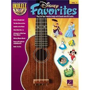 DISNEY - UKULELE PLAY ALONG VOL.7 DISNEY FAVOURITES + CD