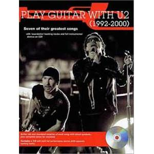 U2 - PLAY GUITAR WTH... 92 2000 TAB. + CD