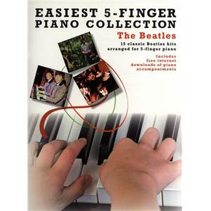 COMPILATION - BEATLES THE EASIEST 5 FINGER PIANO COLLECTION Épuisé