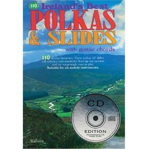 COMPILATION - 110 IRELAND'S BEST POLKAS AND SLIDES + CD