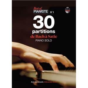 COMPILATION - BEST OF PIANISTE NO.1 30 PARTITIONS DE BACH A SATIE PIANO SOLO