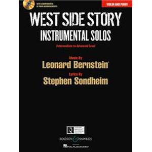BERNSTEIN LEONARD - WEST SIDE STORY INSTRUMENTAL SOLOS + CD (10 PIECES)  - VIOLON ET PIANO