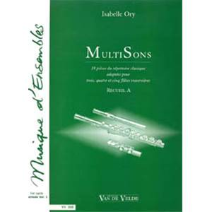 ORY ISABELLE - MULTISONS VOL.A - 3 A 5 FLUTES