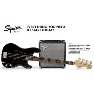 BASSE ELECTRIQUE SQUIER AFFINITY PRECISION BASS PJ PACK BLACK