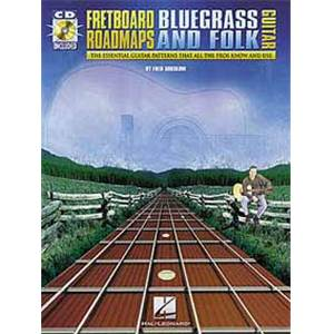 SOKOLOW FRED - FRETBOARD ROADMAPS BLUEGRASS ET FOLK TAB. + CD