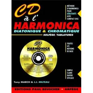 MILTEAU/MARCH - CD A  L'HARMONICA + CD - HARMONICA