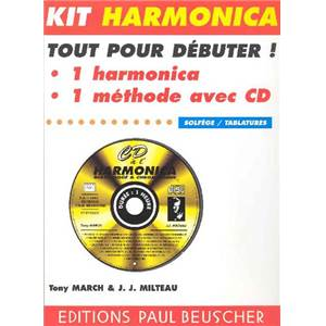 MILTEAU JEAN JACQUES - KIT CD A L HARMONICA + HARMONICA DE BLUES HOHNER