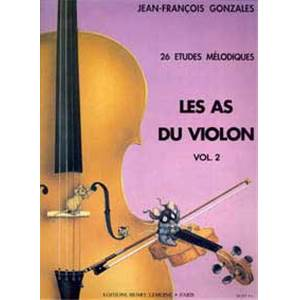 GARLEJ/GONZALES - LES AS DU VIOLON VOL.2 - VIOLON ET PIANO