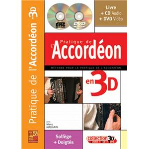 MAUGAIN MANU - PRATIQUE DE L'ACCORDEON EN 3D + CD + DVD