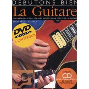 COMPILATION - DEBUTONS BIEN LA GUITARE TAB. + DVD + CD