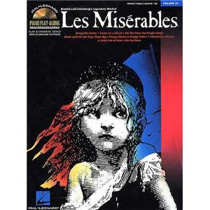 BOUBLIL / SCHONBERG - LES MISERABLES PIANO PLAY ALONG VOL.024 + CD