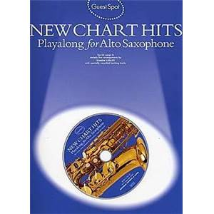 COMPILATION - GUEST SPOT NEW CHART TITLES PLAY ALONG FOR ALTO SAXOPHONE + CD