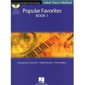 COMPILATION - HAL LEONARD STUDENT PIANO LIBRARY ADULT POPULAR FAVORITES VOL.1 + CD