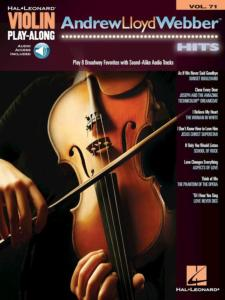 WEBER ANDREW LLOYD - VIOLIN PLAYALONG VOL.071 ANDREW LLOYD WEBBER HITS + ONLINE AUDIO ACCESS
