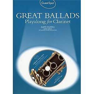 COMPILATION - GUEST SPOT GREAT BALLADS PLAY ALONG FOR CLARINET + CD