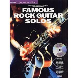 COMPILATION - GUITAR SIGNATURE LICKS FAMOUS ROCK GUITAR SOLOS + CD
