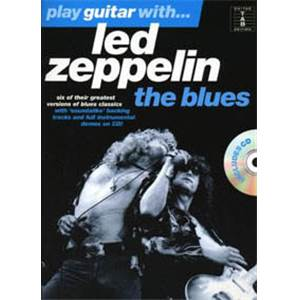 LED ZEPPELIN - BLUES PLAY GUITAR WITH + CD Épuisé