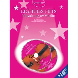 COMPILATION - GUEST SPOT EIGHTIES PLAY ALONG HITS FOR VIOLIN + 2CDS