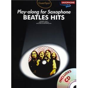 BEATLES THE - GUEST SPOT HITS POUR SAXOPHONE ALTO + CD Épuisé