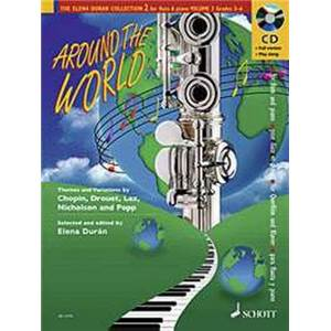DURAN ELENA - AROUND THE WORLD + CD FLUTE/PIANO