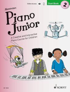 HEUMANN HANS GUNTER - PIANO JUNIOR : DUET BOOK 2 +ONLINE ACCESS - PIANO A 4 MAINS