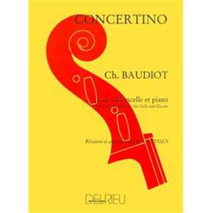 BAUDIOT CN - CONCERTINO - VIOLONCELLE ET PIANO
