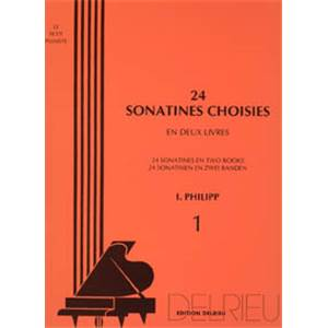 PHILIPP ISIDOR - SONATINES CHOISIES (24) VOL.1 - PIANO