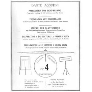 AGOSTINI DANTE - PREPARATION AU DECHIFFRAGE VOL.4 - BATTERIE