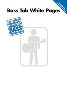 COMPILATION - BASS WHITE PAGES TAB.