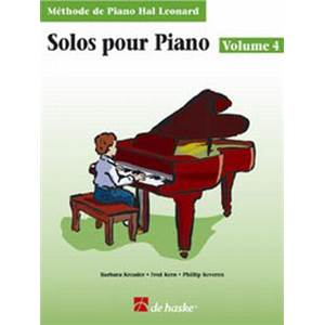 COMPILATION - METHODE DE PIANO HAL LEONARD SOLOS POUR PIANO VOL.4