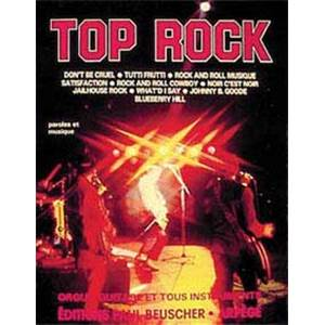 COMPILATION - TOP ROCK VOL.1 PIANO SIMPLIFIE PAROLES ET ACCORDS