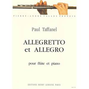 TAFFANEL PAUL - ALLEGRETTO ET ALLEGRO - FLUTE ET PIANO