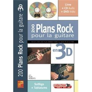 ROBERT RUDY - 200 PLANS ROCK POUR LA GUITARE EN 3D + CD + DVD